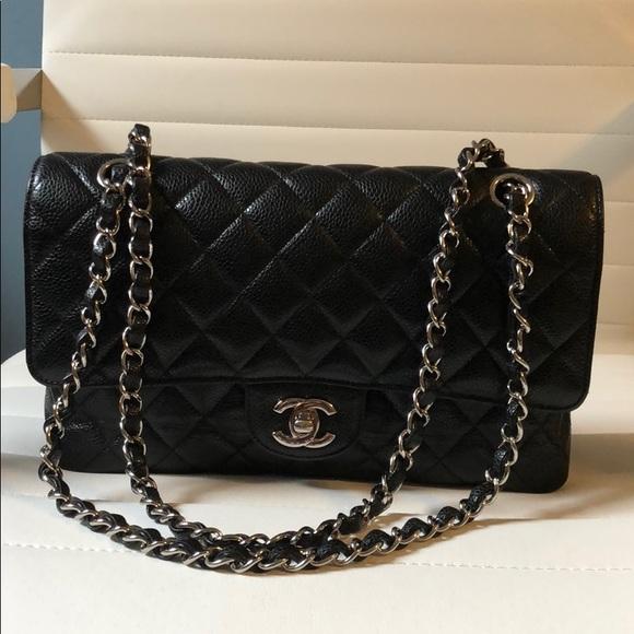 5afb555a1d1a60 CHANEL Handbags - Authentic Chanel Classic Flap Caviar Medium